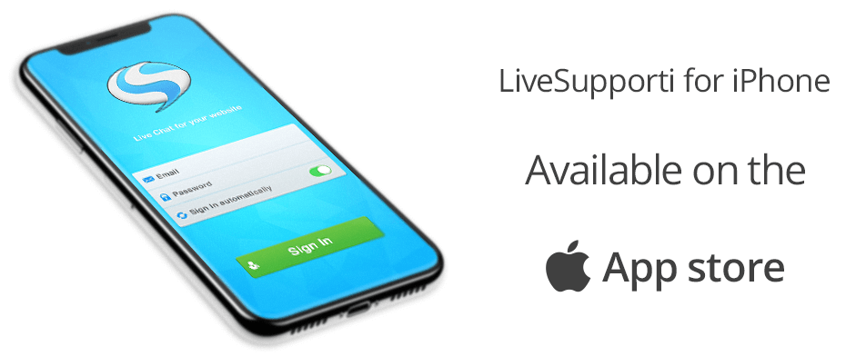 Live support chat for iPhone